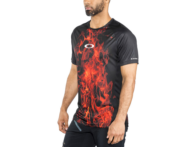 Oakley MTB Camiseta Tech Manga Corta Hombre, flames